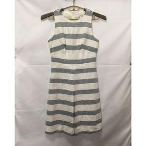 J.Crew Women's Striped Fit & Flare Dress L59